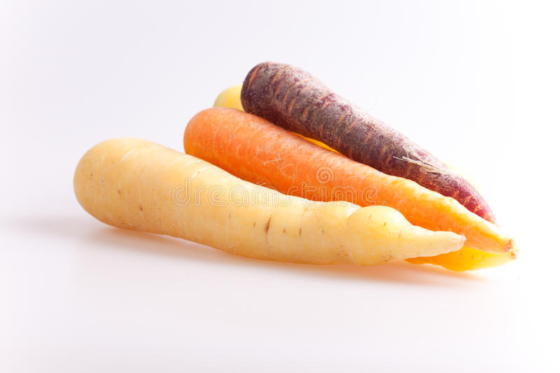 Colourful carrots stock image