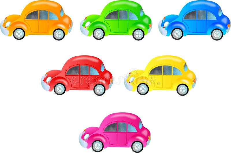 Colourful Cars stock illustration