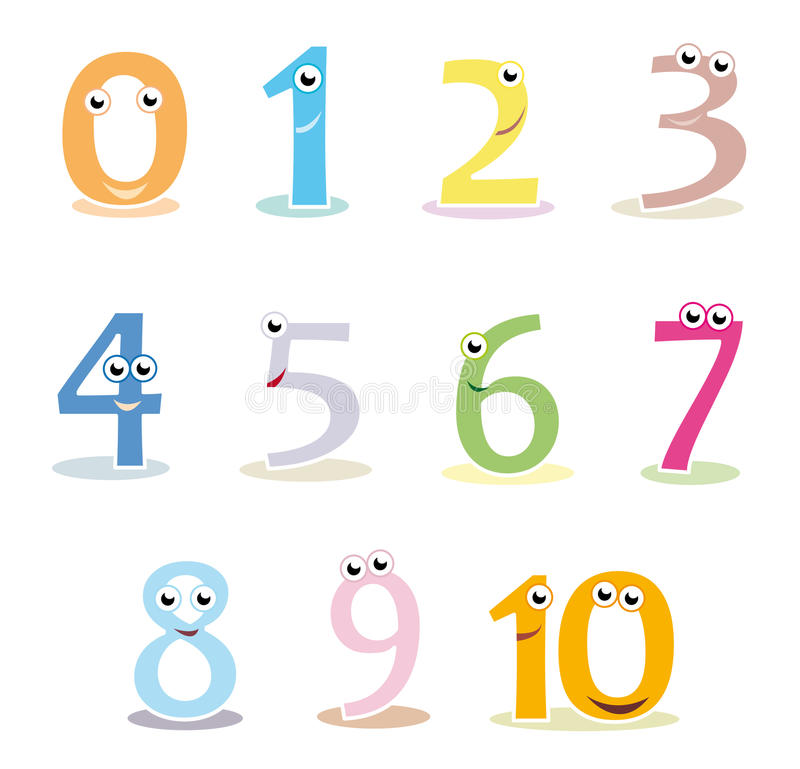 Colourful cartoon numbers royalty free illustration