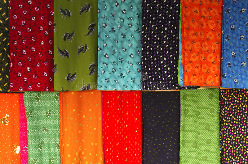 Colourful Chinese silk stock image