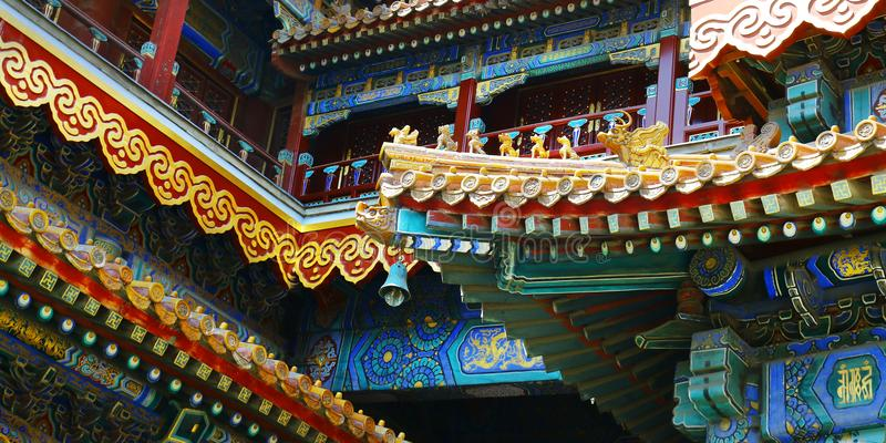 colourful chinese temple royalty free stock photography