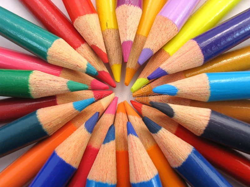 Colourful Circle stock image Image of colour color stationeries