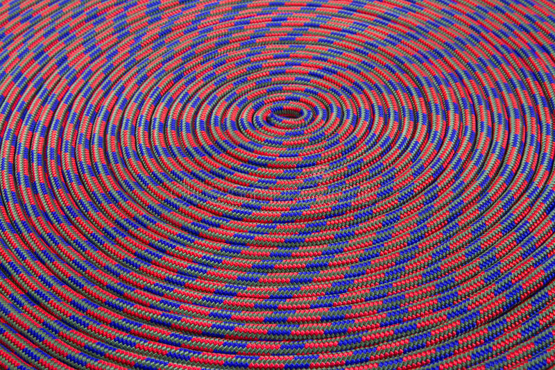Colourful climbing rope stock photos