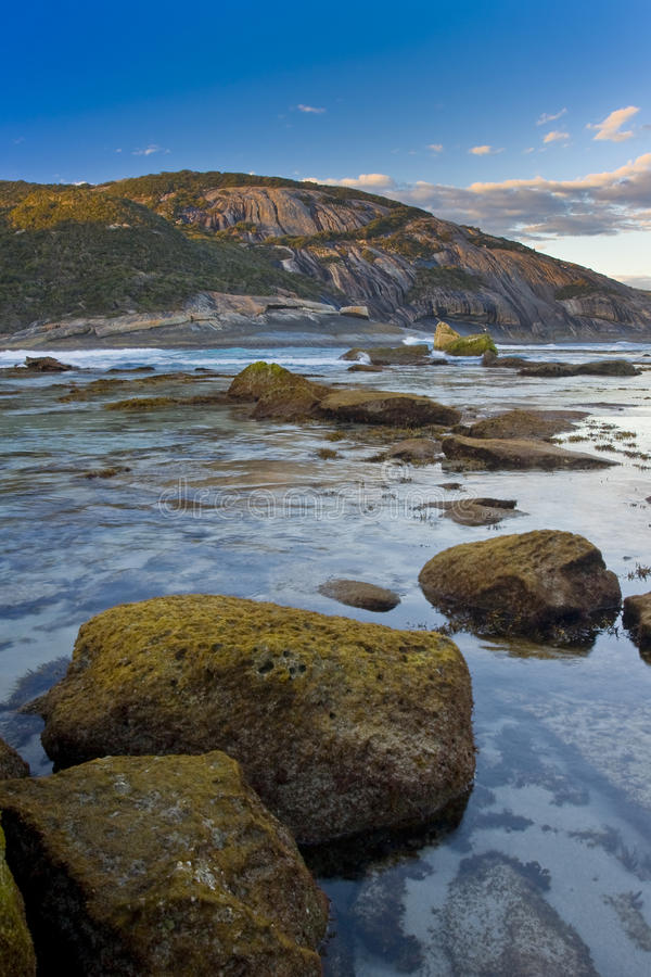 Colourful Coastline royalty free stock image