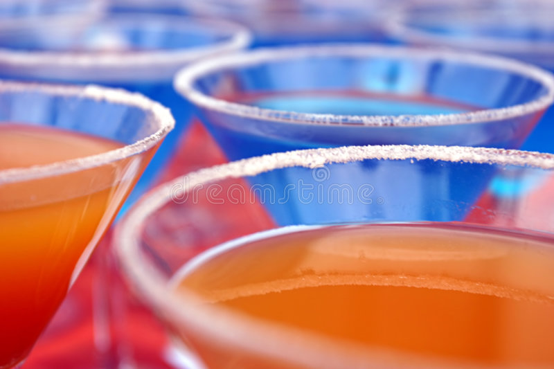 Colourful Cocktails Stock Photo