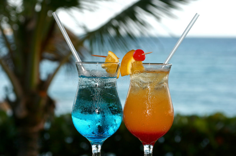 Colourful cocktails stock photography