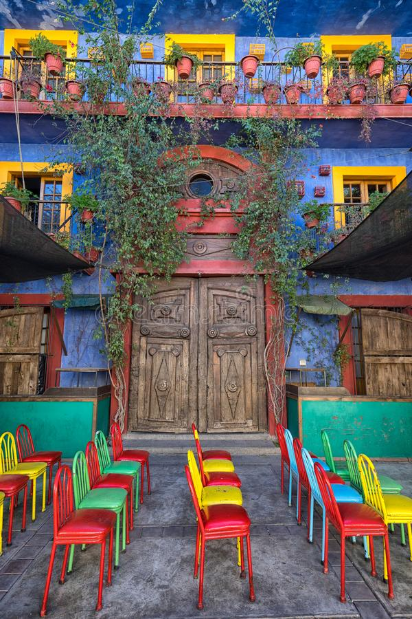 Colourful colonial architecture in Mexico royalty free stock photography