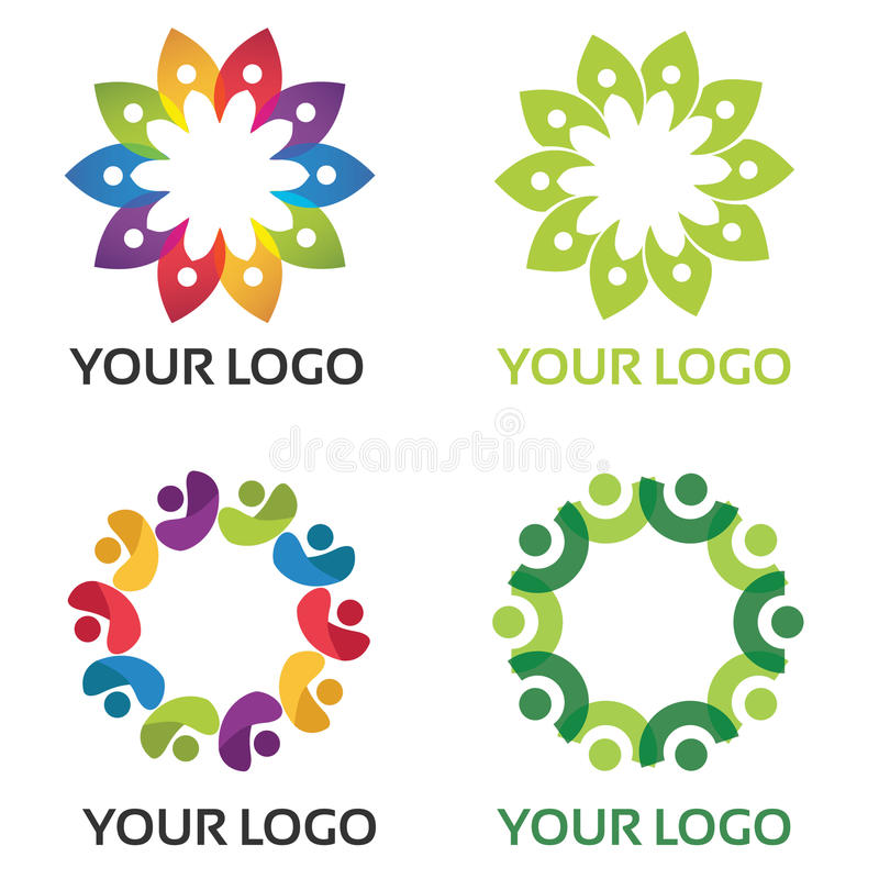 Colourful Community Logo. Vector logo for community & suitable for business identity royalty free illustration
