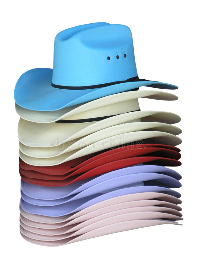 Colourful Cowgirl Hats stock photography