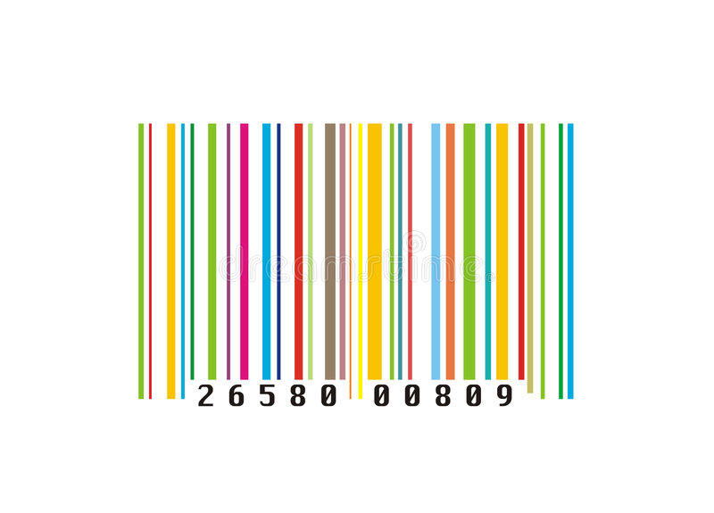 Colourful creative barcode stock illustration