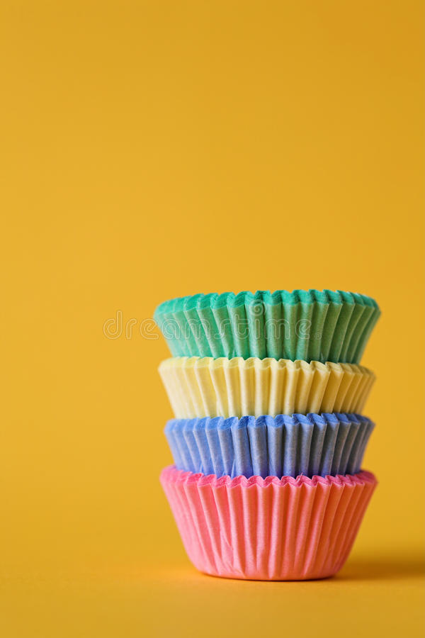 Download Colourful cupcake cases stock image. Image of case, stack - 13724669