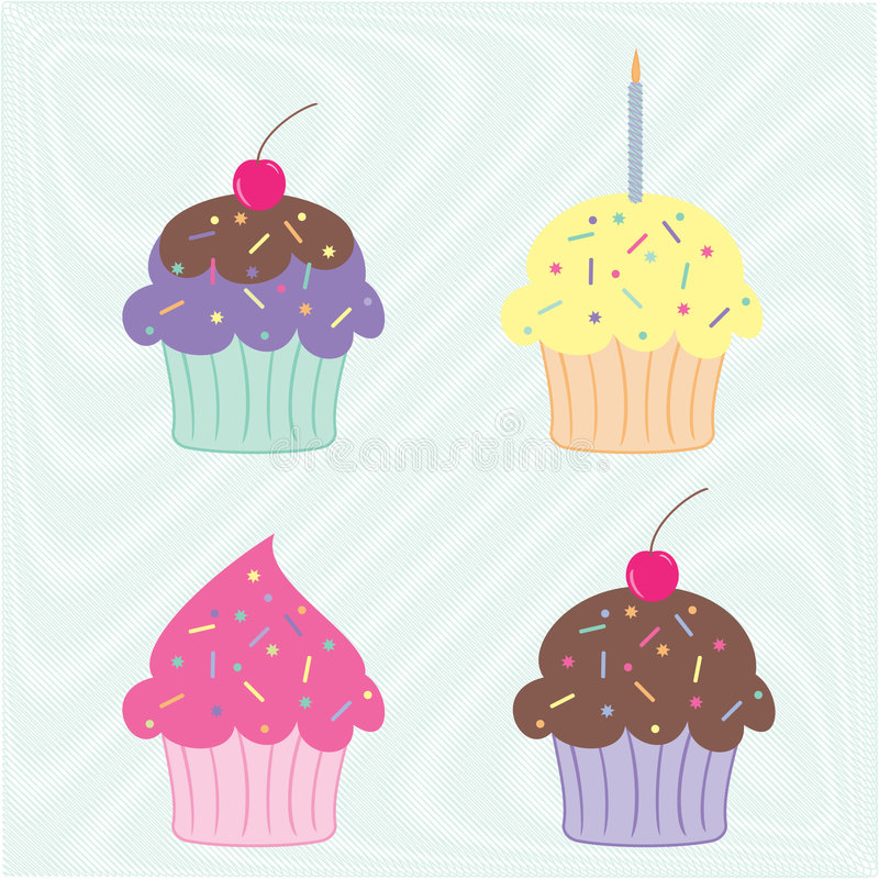 Download Colourful cupcakes stock vector. Illustration of group - 8996999