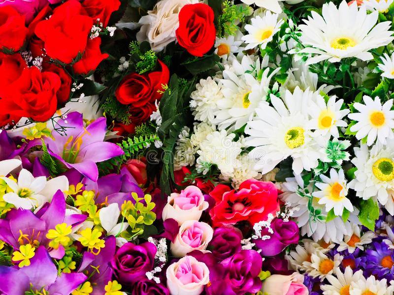 Colourful Cut Flower Bunches For Sale royalty free stock images
