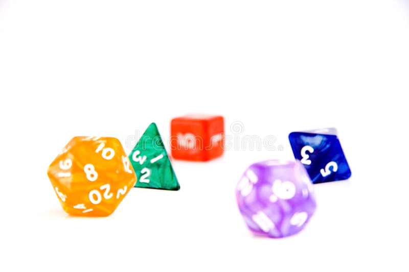 Colourful dices royalty free stock images