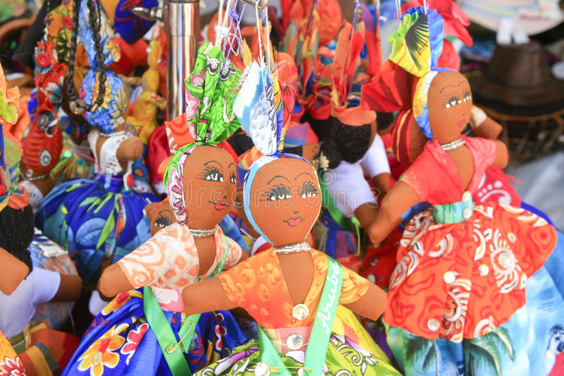 Colourful Dolls, Oranjestad, Aruba Stock Image