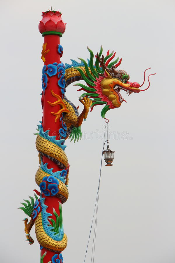 Colourful dragon lamp royalty free stock image