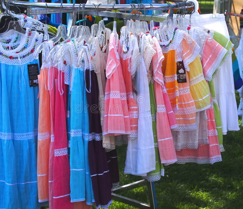 Colourful Dresses stock image