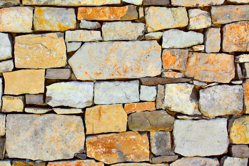 Colourful dry masonry. Texture of colourful dry masonry, may be used as background stock photography