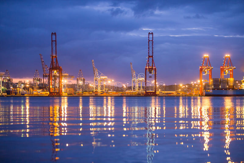Colourful Durban Harbour South Africa stock image