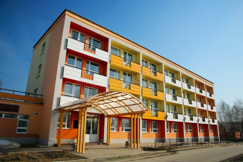 Download Colourful dwelling house stock image. Image of house, structure - 7119007