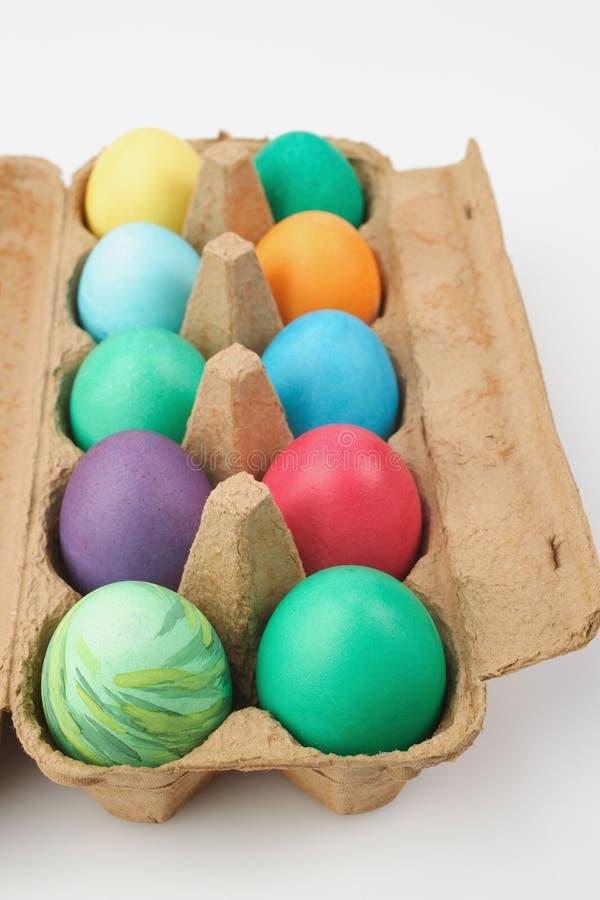 Colourful Easter eggs stock photos
