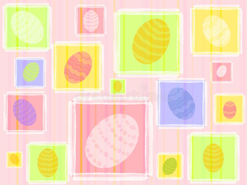 Colourful Easter Eggs Pattern Background royalty free illustration