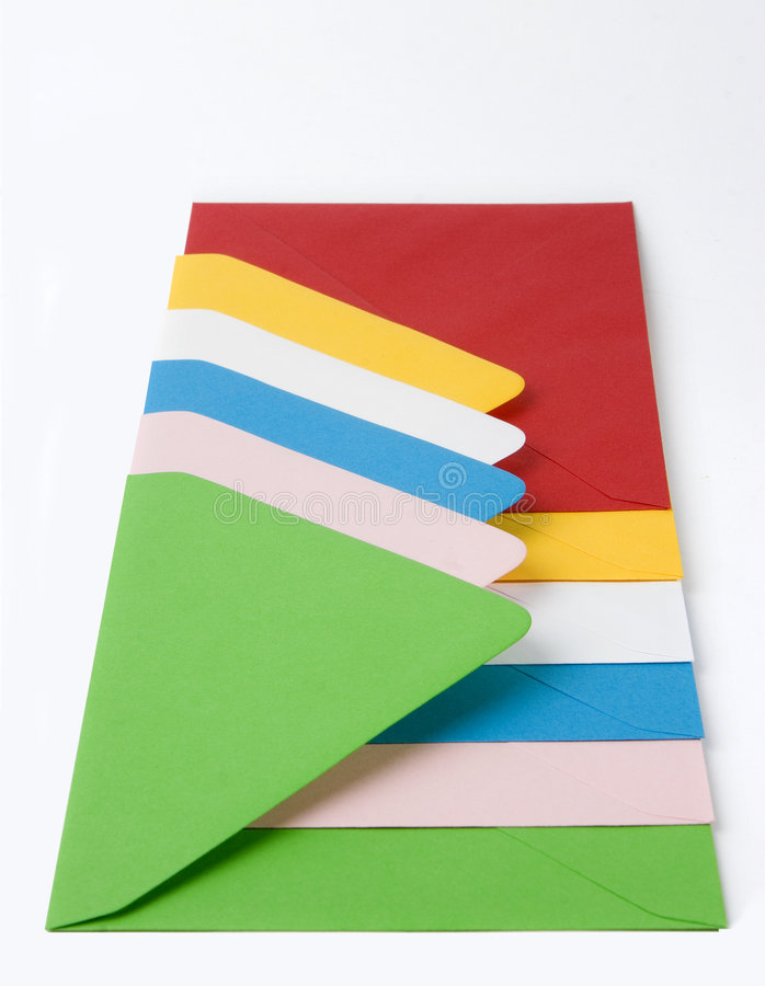 Colourful Envelopes stock photos