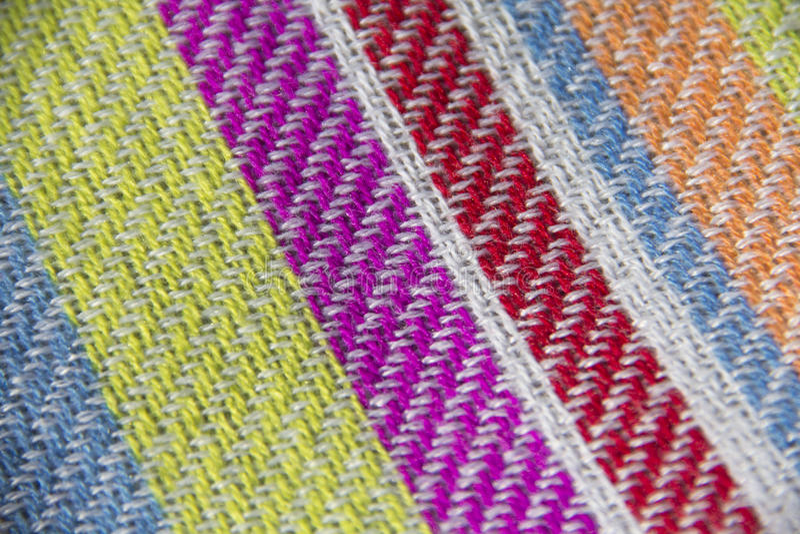 Colourful fabric stock photo