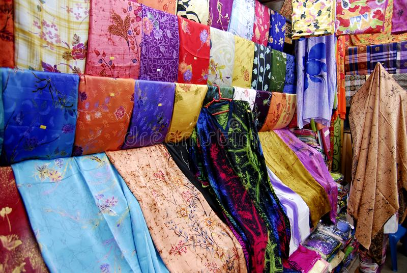 Colourful Fabrics For Sale royalty free stock images