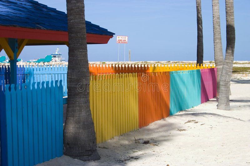 Colourful fence 1 stock photography