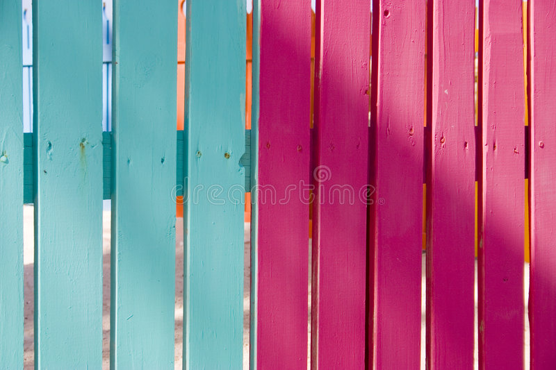 Colourful fence 4 stock images