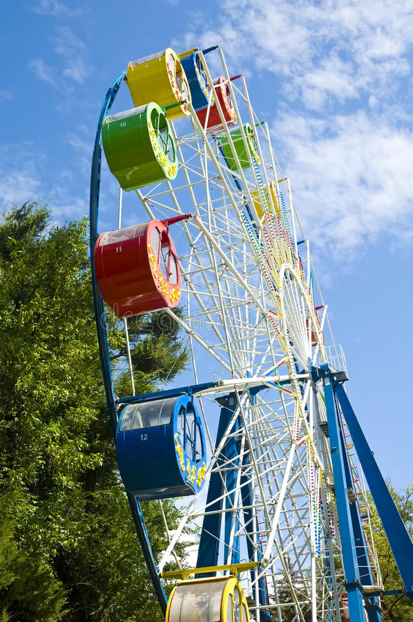 Download Colourful Ferris Wheel stock photo. Image of recreational - 26515202