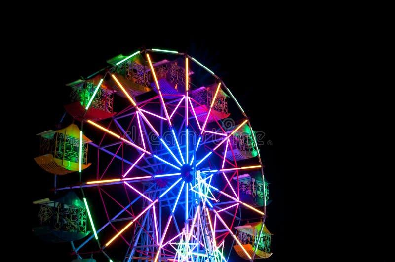 Colourful Ferris wheel on a beautiful night,Colourful Vintage Ferris wheel. Colourful Ferris wheel on beautiful night,Colourful Vintage Ferris wheel stock photos