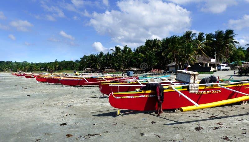 Colourful Fishermens Boats. Ilocos Norte. Free Public Domain Cc0 Image