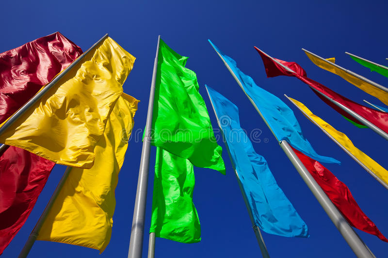 Download Colourful flags stock image. Image of festival, many - 21126307