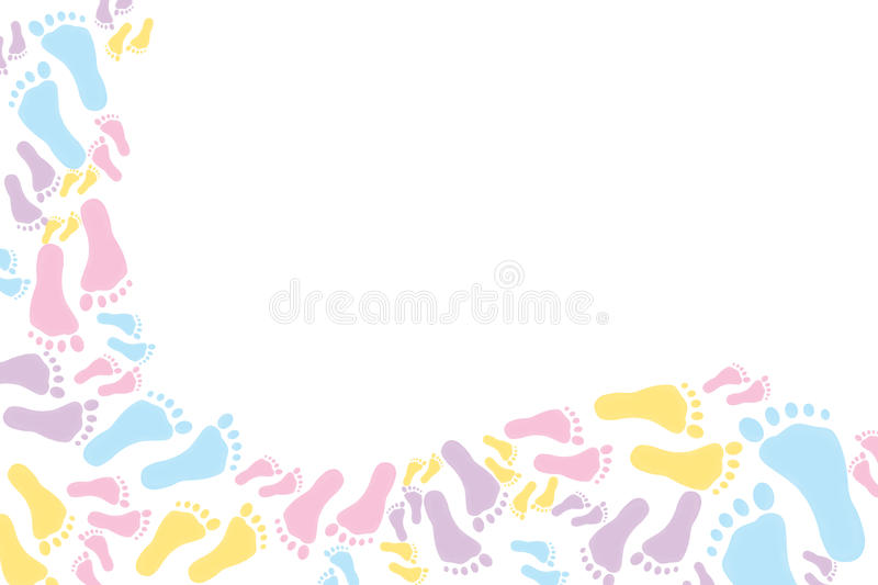 Colourful footprint Background vector illustration