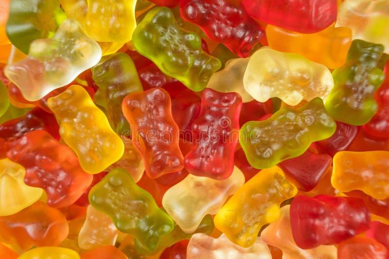 Colourful galaretowi dzieci/gumowaci niedźwiadkowi cukierków cukierki fotografia stock