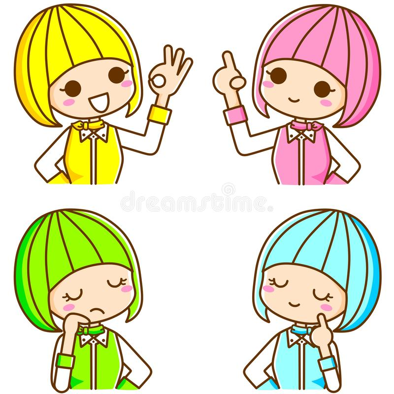 Colourful Girl Stock Photography