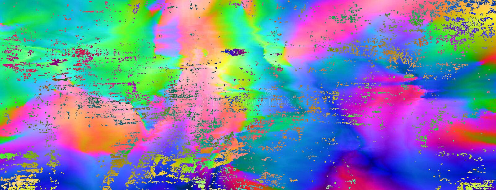 Colourful glitch abstract background vector illustration