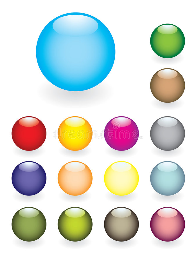 Colourful Glossy Buttons Stock Photos