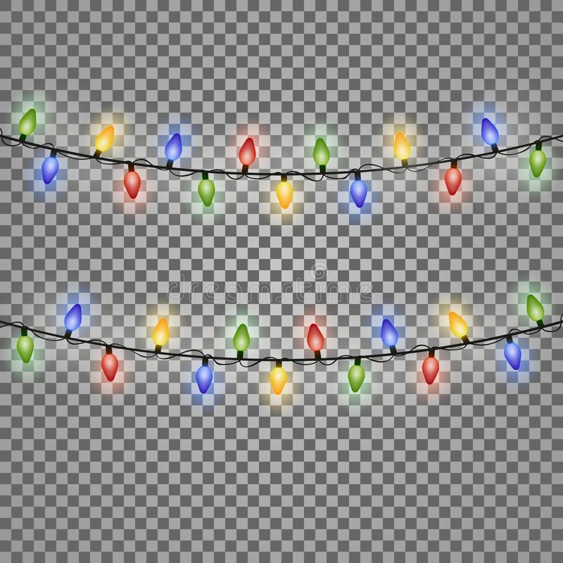 Colourful Glowing Christmas Lights. Vector illustration. Eps 10 vector illustration