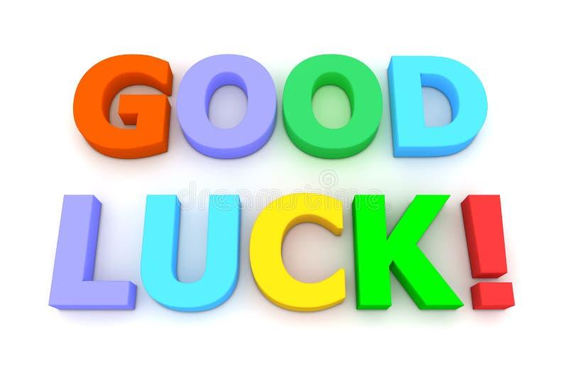 Colourful Good Luck vector illustration