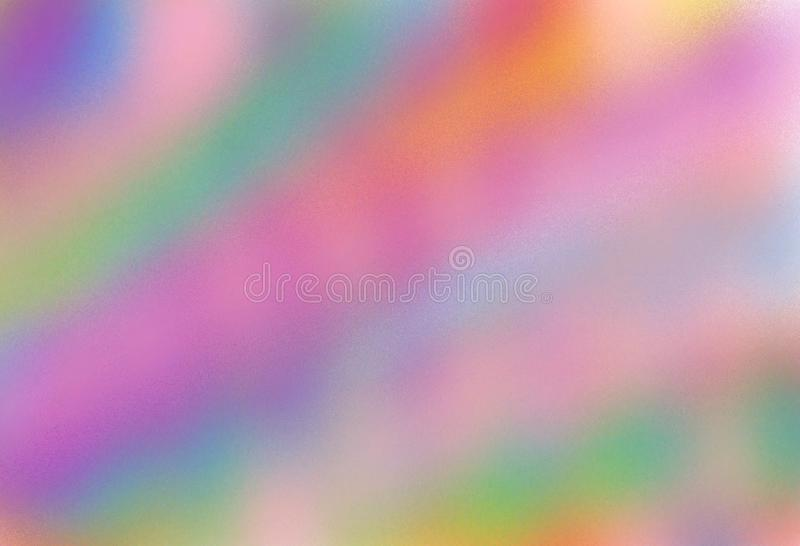 A colourful gradation smudge smear kaleidoscope of rainbow colours for backdrop usage. A computer generated illustration image of a colourful gradation smudge stock illustration
