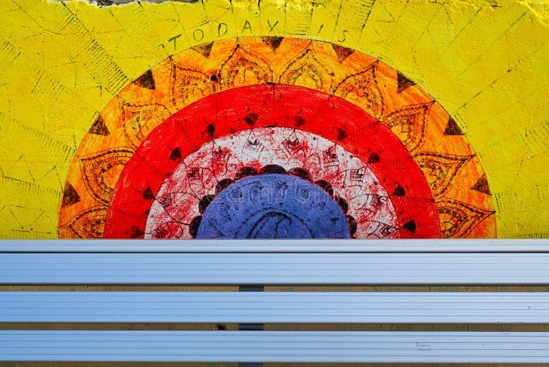 Colourful Graffiti Art, Bondi Beach, Sydney, Australia stock photography