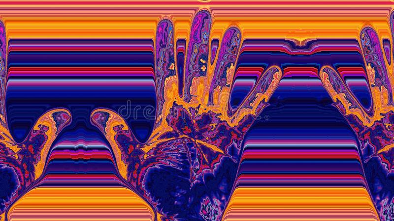 Colourful hands with colourful background royalty free stock photography