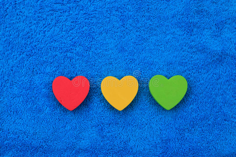 Download Colourful hearts stock image. Image of sign, piece, puzzles - 25191351