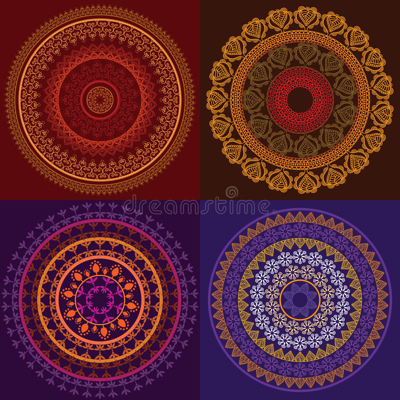 Colourful Henna Mandala vector illustration