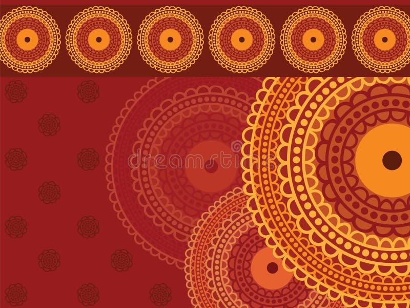 Download Colourful Henna Mandala Background Stock Illustration - Image: 21072765
