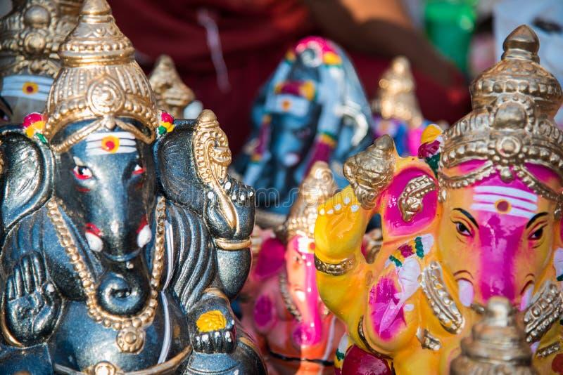 Colourful Hindu god named Ganapati at Chidambaram,Tamilnadu,India. stock image