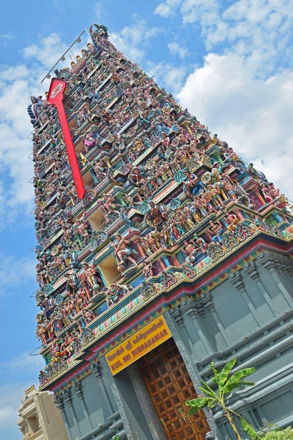 Colourful Hindu Temple dedicated to Lord Murugan stock image